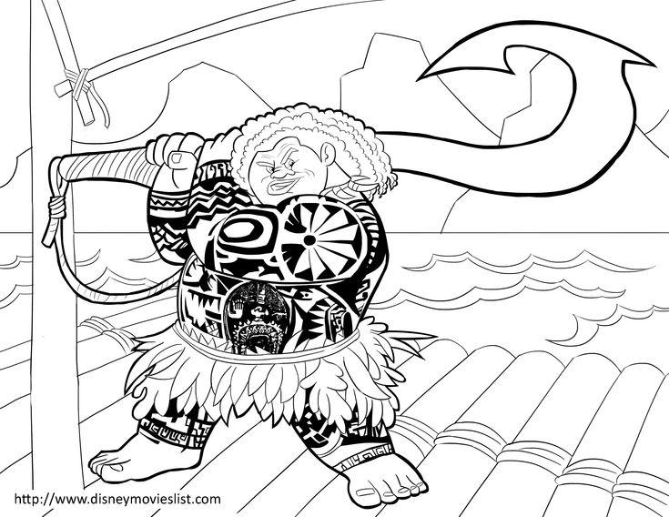 Maui Moana Coloring Page Sheet Moana Coloring Moana Coloring Pages Disney Coloring Pages
