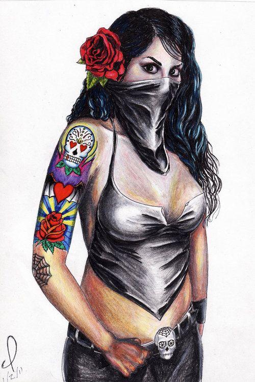 mexican chola pin up | Chola Pin Up Girl Tattoos