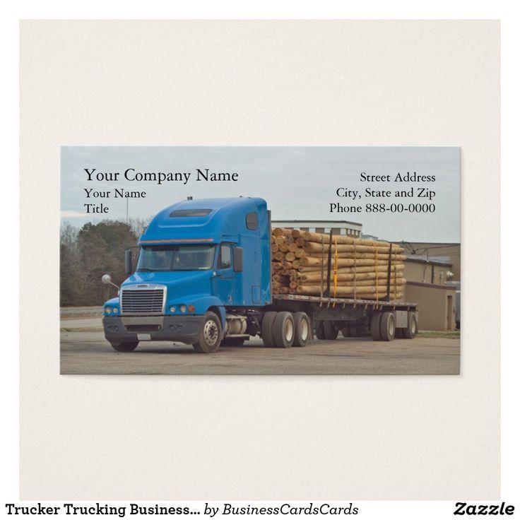 20 best Trucker Truck Driver Business Cards images on Pinterest ...