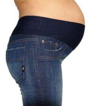 Quem disse que gestante não usa jeans? Esses são ótimos e super confortáveis.