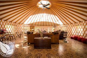 Elegant Yurts Tucked Beneath Oak Trees on California Ranch