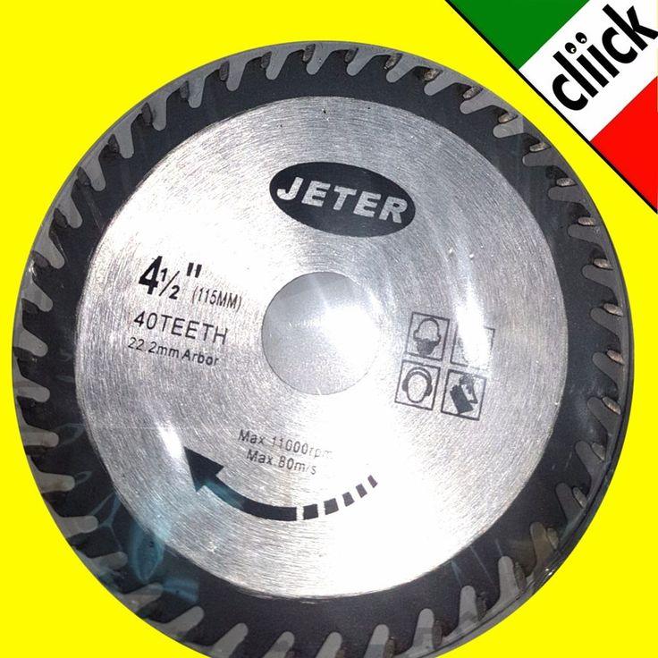 Disco Taglio per Sega Circolare 115mm 40T Classico a secco angolare legno 115