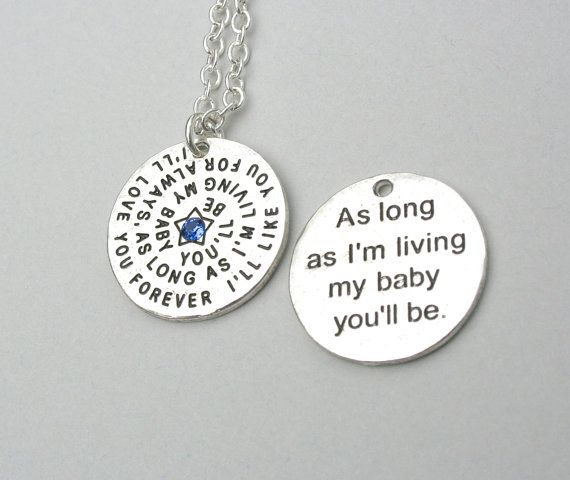 I'll Love You Forever /My Baby You''ll Be  by MyInitialCharm, $17.85