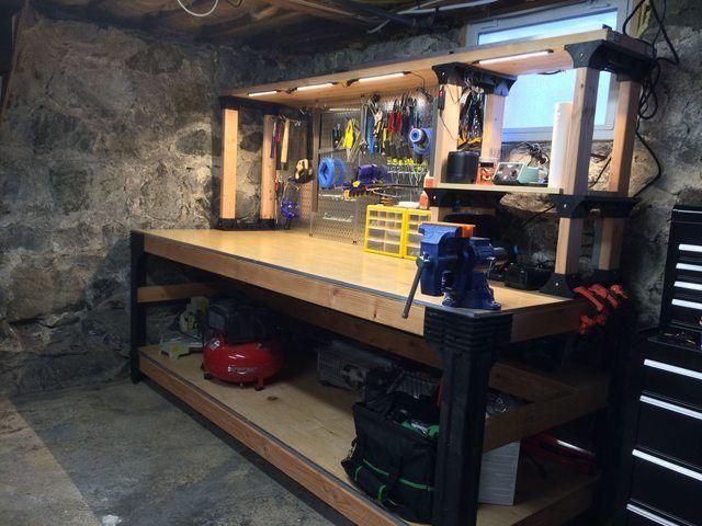 2x4 Basics Workbench Workbench Garage Work Bench Workbench Plans Diy