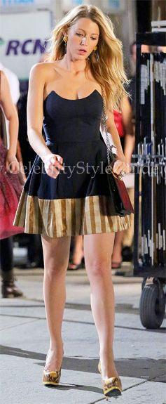 "Gossip Girl Style & Fashion: Blake Lively, as Blake Lively as Serena Van Der Woodsen wore a super cute princess seamed Lorick ""Nikki"" strapless dress on GOSSIP GIRL-- ""Dirty Rotten Scandals"""