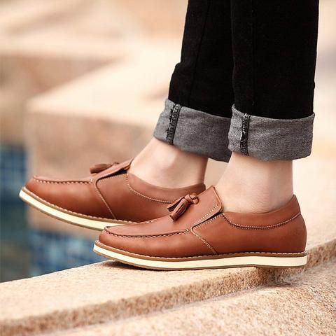 Leather Tassel Loafers (2 Colors)  #TakeClothe #Mensfashion #Fashion #Streetstyle #Shoes