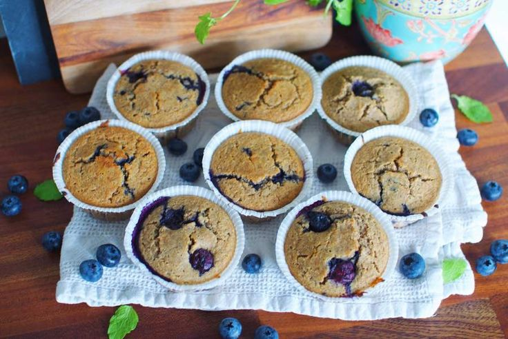 Healthified blueberry muffins