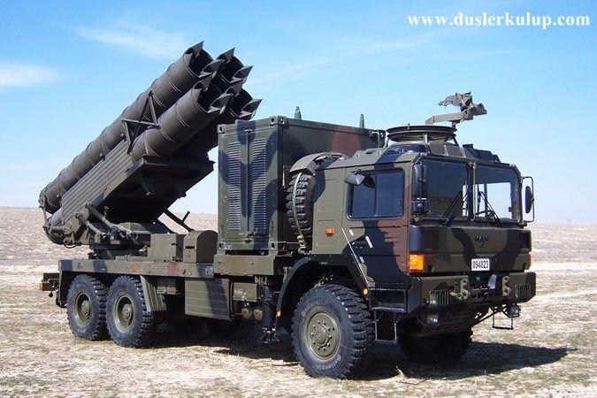 Türk Yapımı Uzun Menzilli Kasırga Tr 302 Topçu Roketi