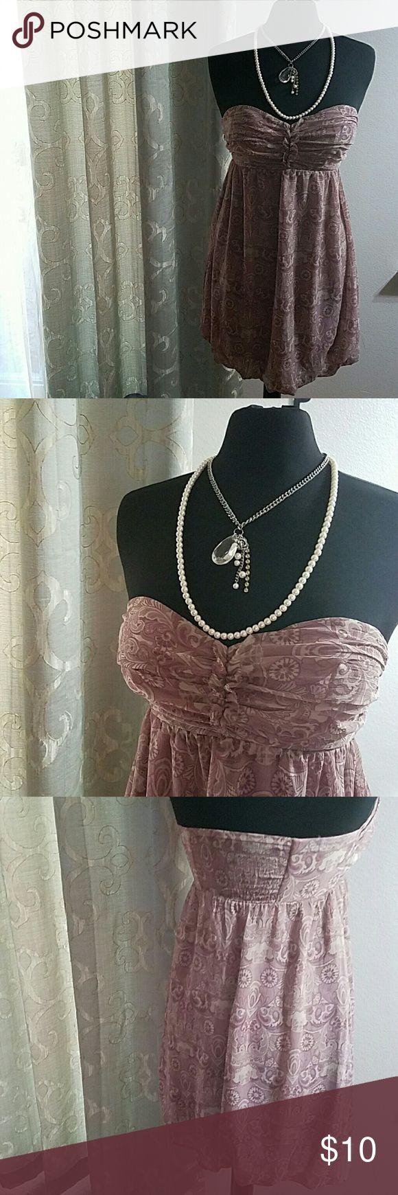 Guess Dress 7 GUC Size 7 strapless Guess Dress  Stretch back, side zipper, light padded & wire bra Guess Dresses