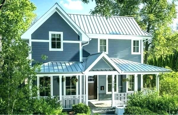 Metal Roof Designs Pictures Houses Roofs Design Shingles And Metal Combo Brick House With Roo In 2020 Tin Roof House Metal Roof Colors Metal Roof Cost