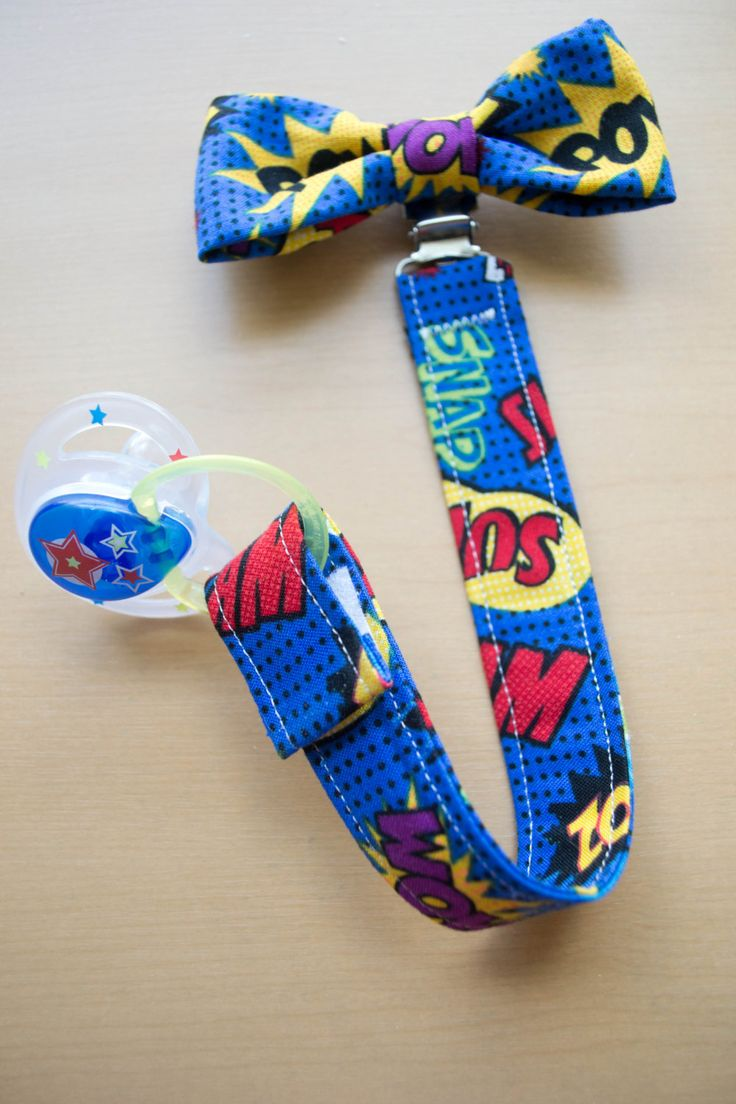 Superhero Pacifier Clip Unique Baby Shower Gift by bonnie999, $14.00
