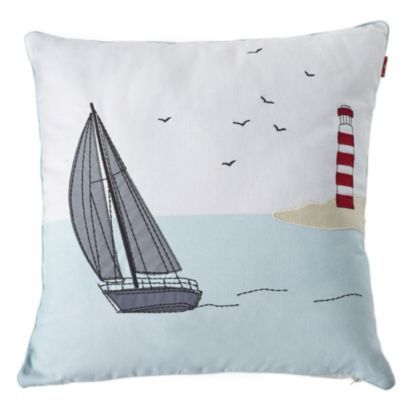 Bring the seaside to you with this Weymouth boat scene cushion #BalticSummer #Comfy