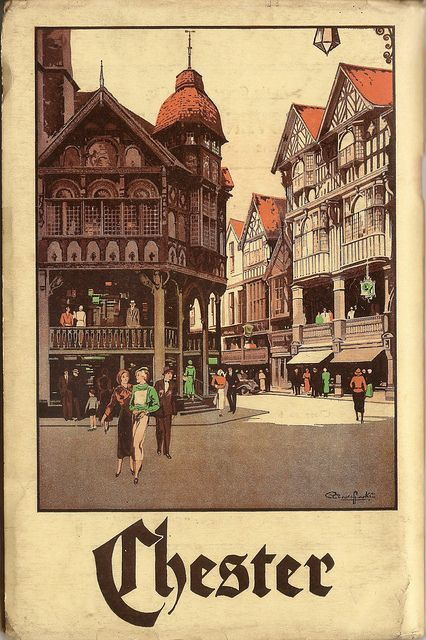 Vintage Tourism Poster - Cheshire - Chester