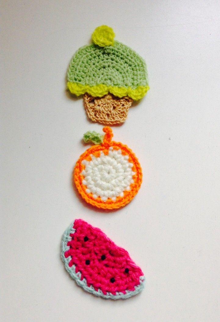 Set de 3 imanes crochet | MercadoLimbo.com