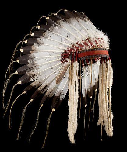 Crow style feather headdress/war bonnet