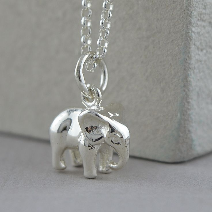 Silver Elephant Necklace | Lily Charmed
