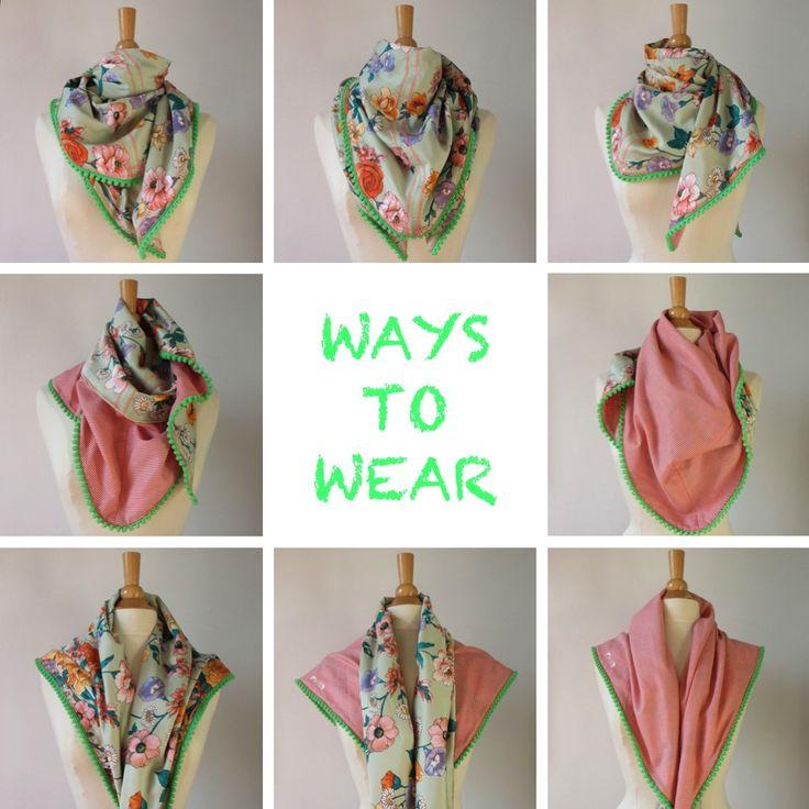 Van vintage sjaal naar nieuwe sjaal.