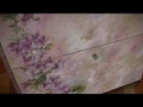 Decoupage su legno, scarpieta,TUTORIAL PASSO PASSO - YouTube