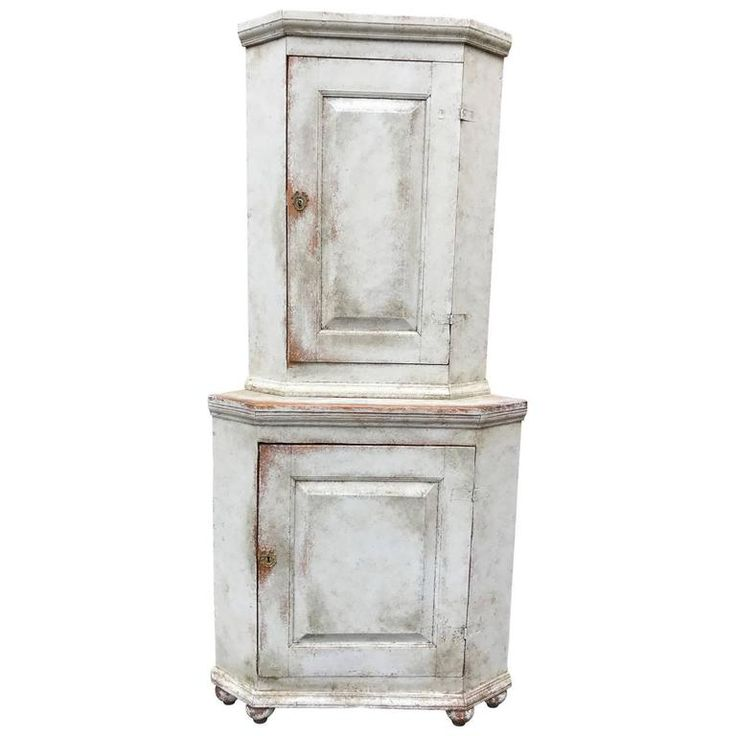 Period Swedish Corner Cabinet or Cupboard | From a unique collection of antique and modern corner cupboards at https://www.1stdibs.com/furniture/storage-case-pieces/corner-cupboards/