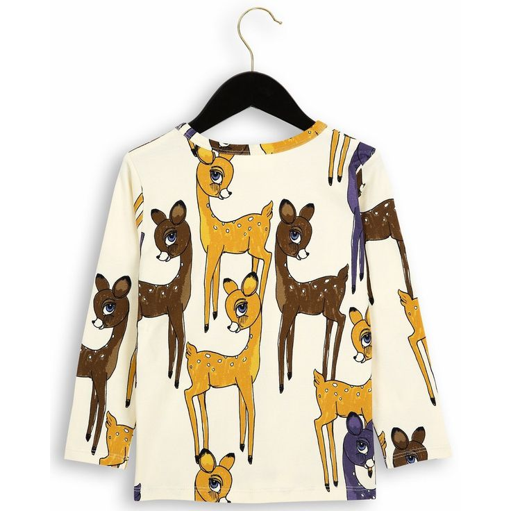 Mini Rodini Roe Deer LS Tee (brown)