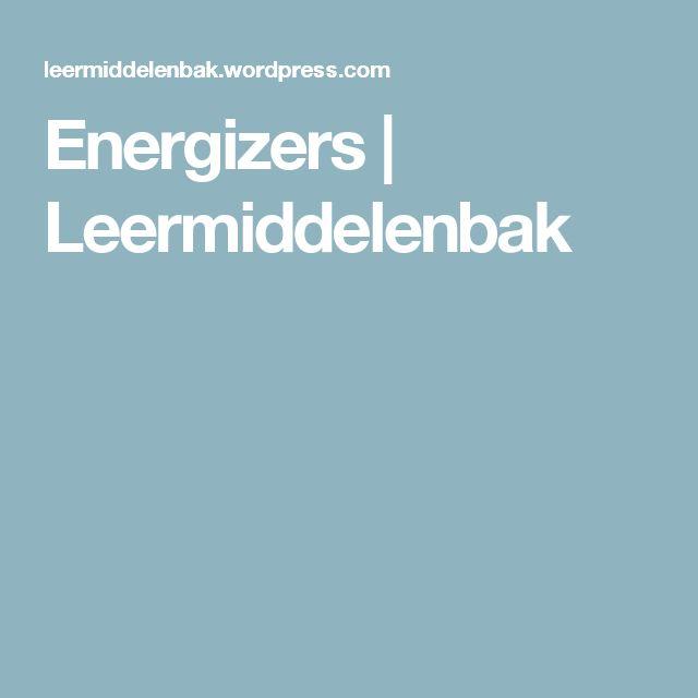Energizers | Leermiddelenbak