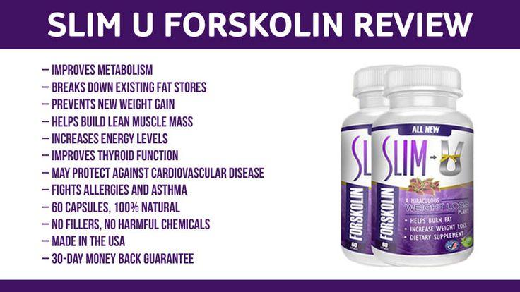 Slim U Forskolin Review: Metabolism Booster and Fat Burner
