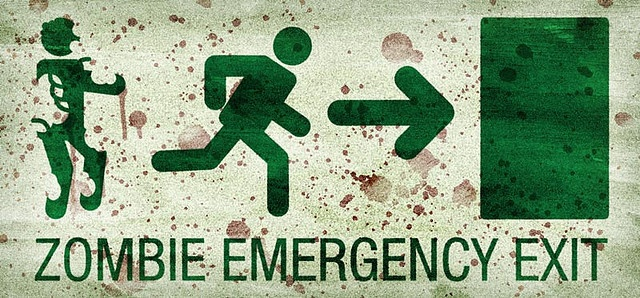 sign: zombie emergency exit