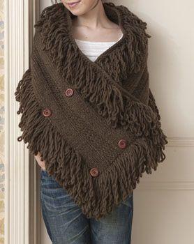 knit & crochet poncho Más