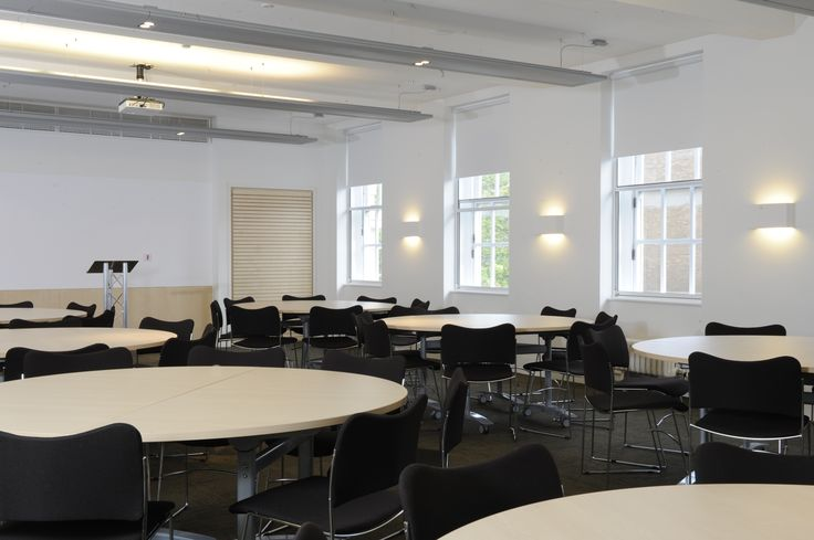 All of the meetings and events spaces at Friends House have lots of natural light.