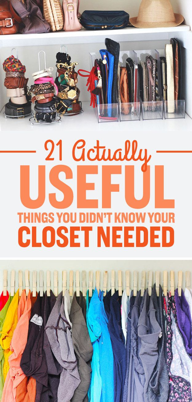 Organize your closet with these useful tools