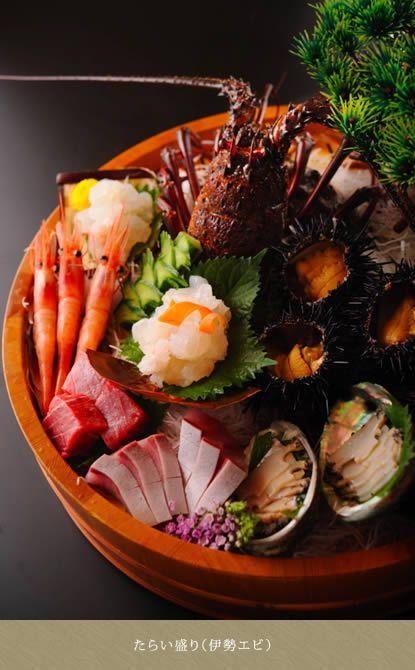 伊勢海老 - lobster & abalone sashimi