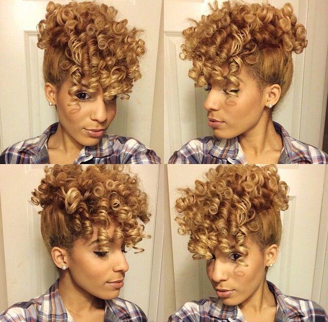 @callherdini. Hair: Split Into Sections Of 4. Spray Mix