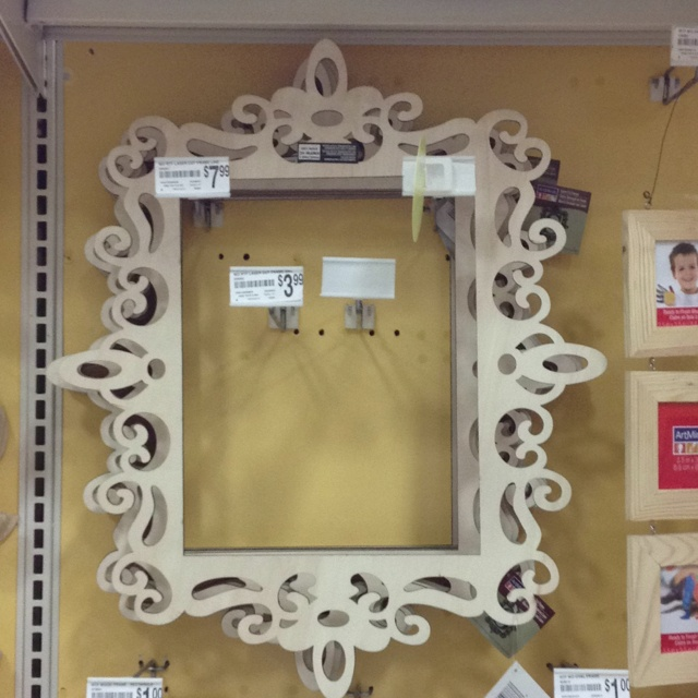 laser cut wooden frame from michaels