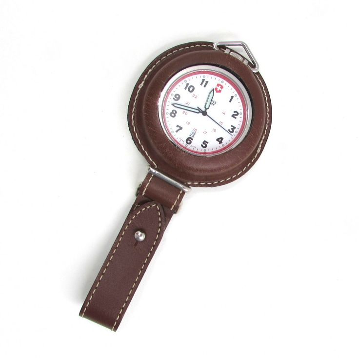 Swiss Army Pocket Watch with Leather Belt Pouch 24721 - Available at sklimited.com
