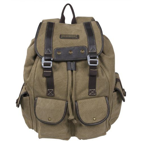 Canvas Cargo Backpack B706 Khaki * This is an Amazon Affiliate link. Want to know more, click on the image.