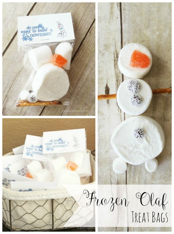 Disney Frozen Treat Bags - Do you want to build a snowman - Laura's Crafty Life