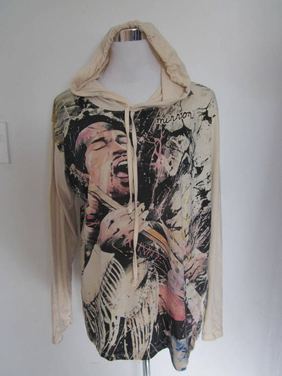 JIMI HENDRIX   Hooded Cotton Top by isoleynz on Etsy
