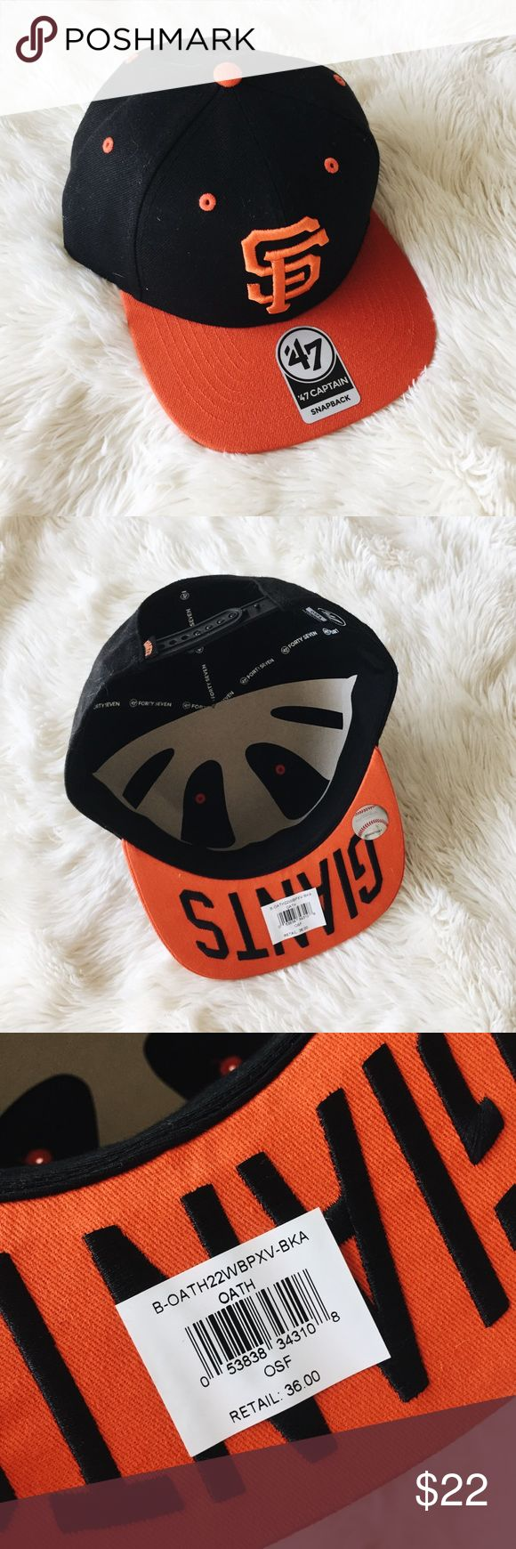 SF Giants Snapback Brand new San Francisco Giants snapback cap with adjustable strap. NWT, authentic, and purchased at the Giants stadium store - never worn and in perfect condition. Accessories Hats