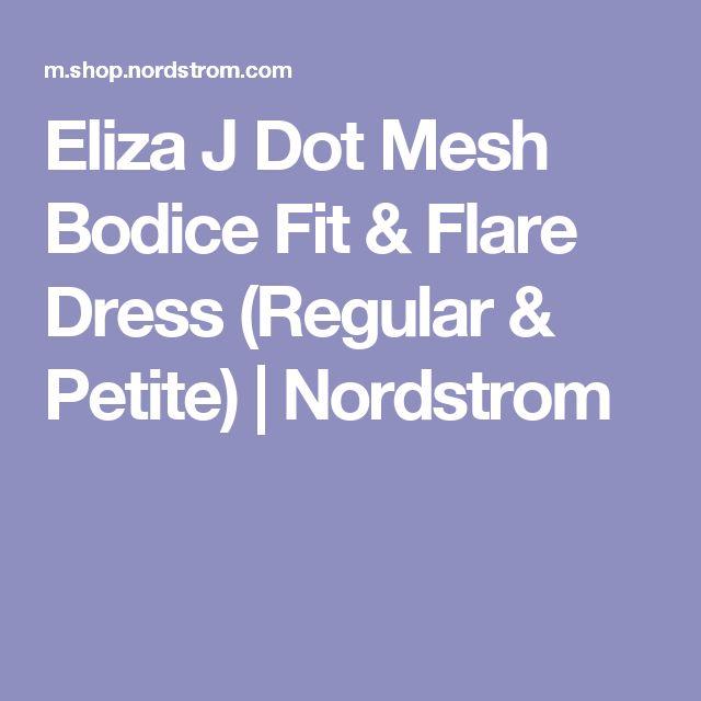 Eliza J Dot Mesh Bodice Fit & Flare Dress (Regular & Petite) | Nordstrom