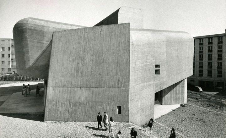 Sainte-Bernadette-du-Banlay Church, Nevers, France, by Claude Parent and Paul Virilio, 1966