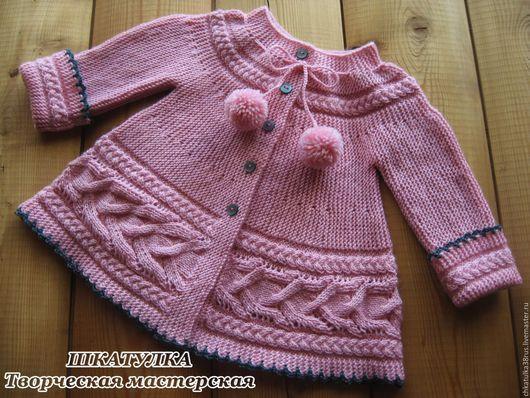 Одежда для девочек, ручной работы. Ярмарка Мастеров - ручная работа. Купить Вязаная кофточка для маленькой девочки. Handmade. Розовый, пальтишко