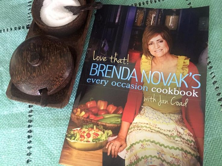 LOVE THAT! BRENDA NOVAK'S EVERY OCCASION COOKBOOK ($9.99 in digital and $24.99 in print). Brenda's very first cookbook contains 75 of her healthiest recipes–the recipes she used to raise her large and boisterous family.