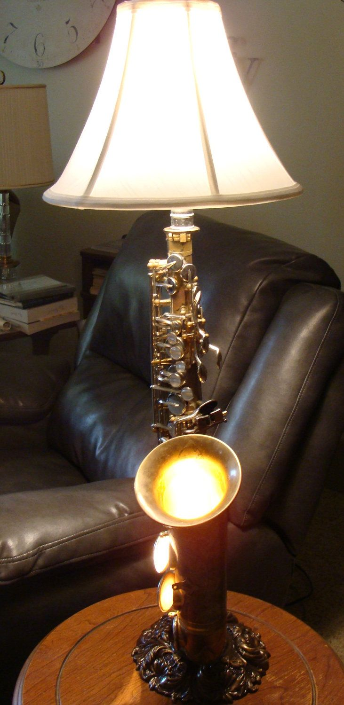 Double Wired Vintage Alto Saxophone Lamp. $288.00, via Etsy.