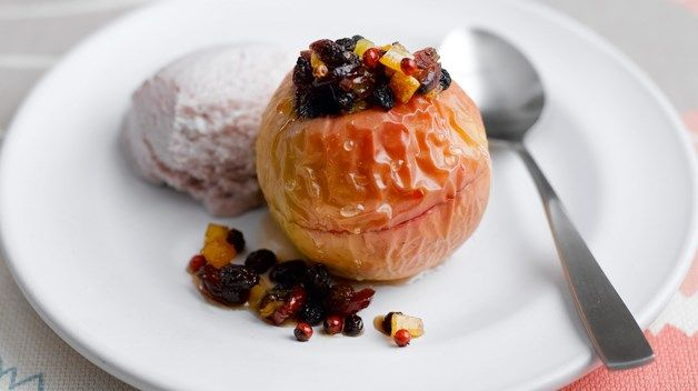 Pink Lady® apple, with pink peppercorns for heat and cranberries for sweetness.