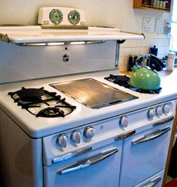 Great article with links about why to buy vintage vs. new stove - I've always been interested, just never really knew where to look or if it was a sound investment.