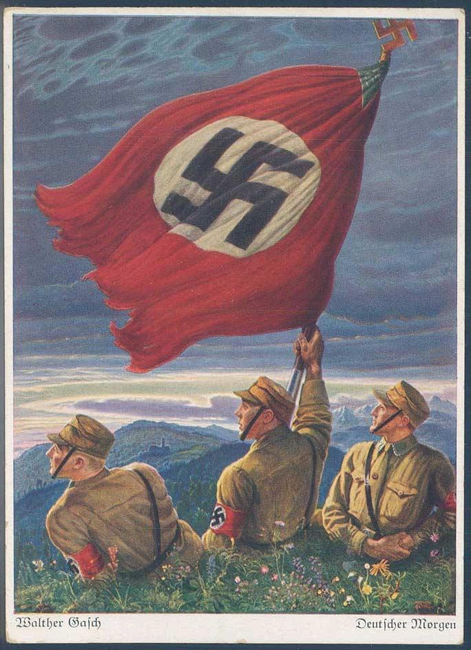"""SA Postkarte """"Walther Kasch - Deutscher Morgen"""", ungebraucht."""