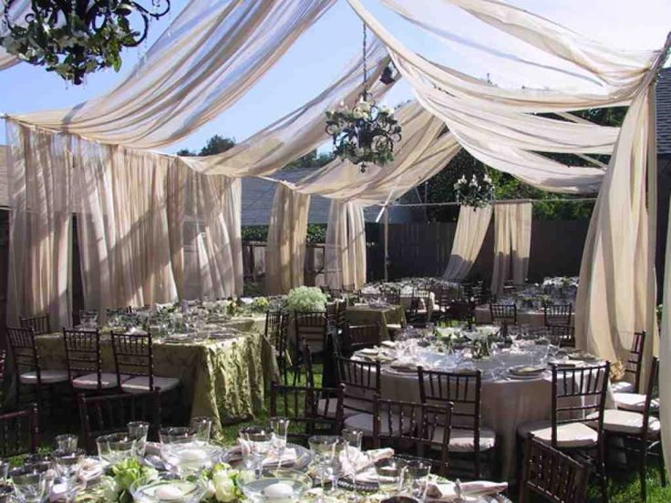 Best 25 backyard wedding receptions ideas on pinterest for Backyard wedding decoration ideas on a budget