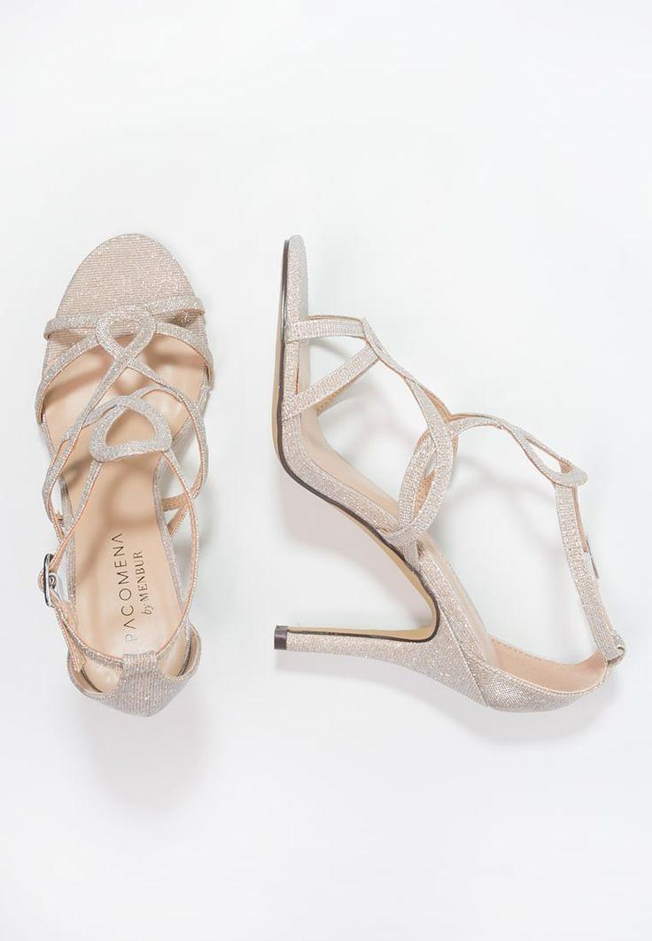 Bestill Paco Mena Sandaler med høye hæler - stone for kr 599,00 (18.05.16) med gratis frakt på Zalando.no