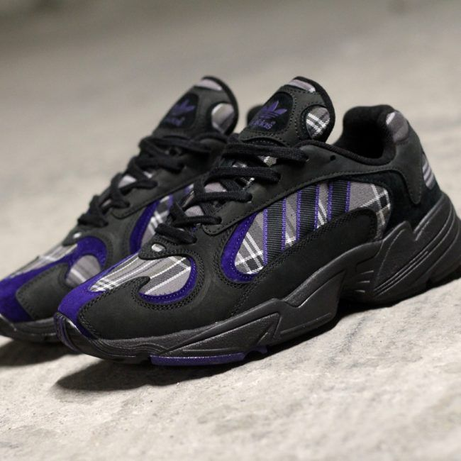 adidas Yung 1 Tartan Noir Pourpre | Chaussure, Sneakers, Adidas