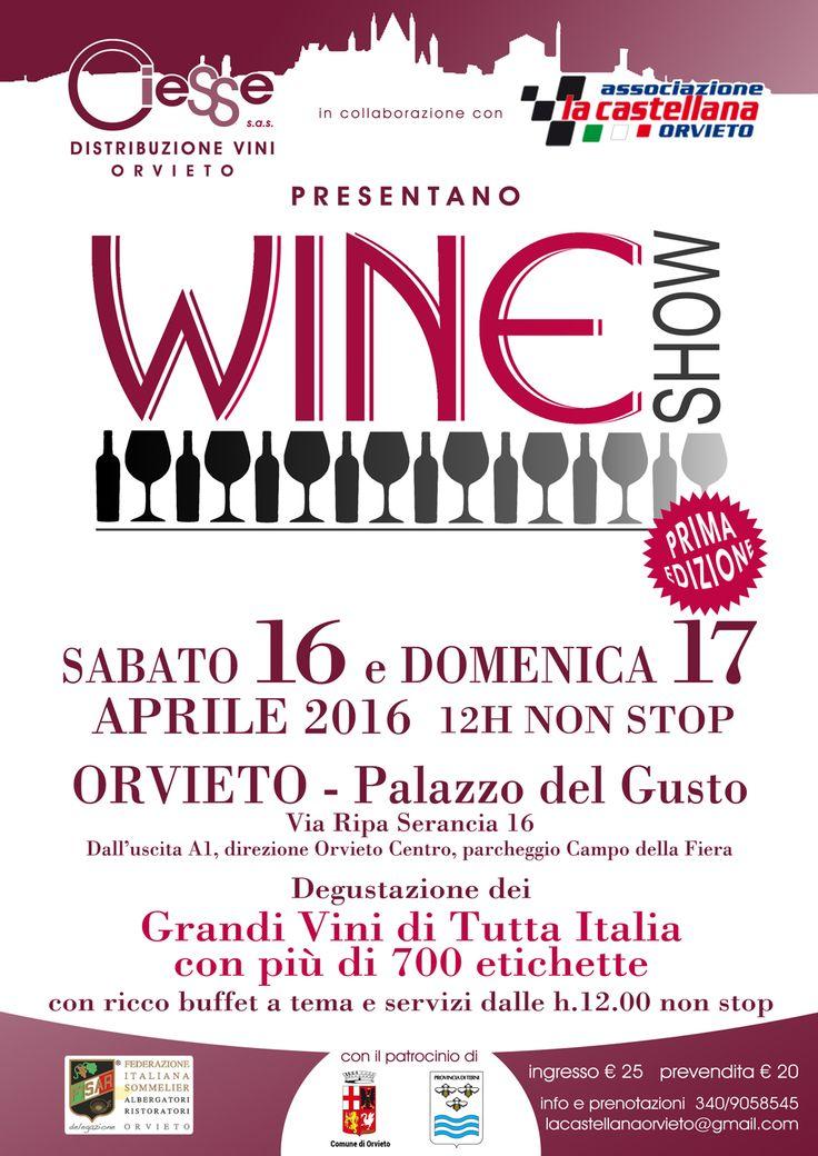 Wine Show Orvieto Aprile 16-17, 2016